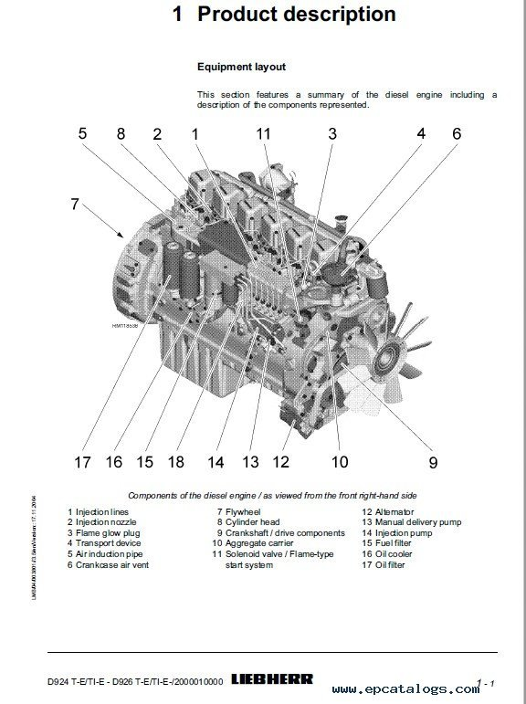 Download Liebherr D924/D926T-E/TI-E Operating Manual PDF