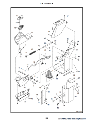Bobcat 331, 331E, 334 DSeries Excavator Parts Manual PDF