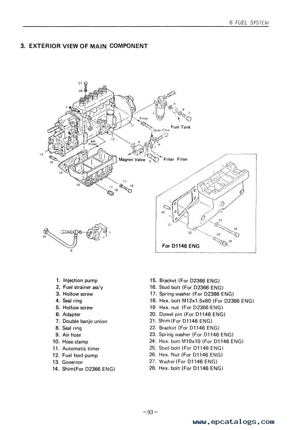 Daewoo Doosan DV11 D1146(T) D2366(T) Diesel Engine PDF
