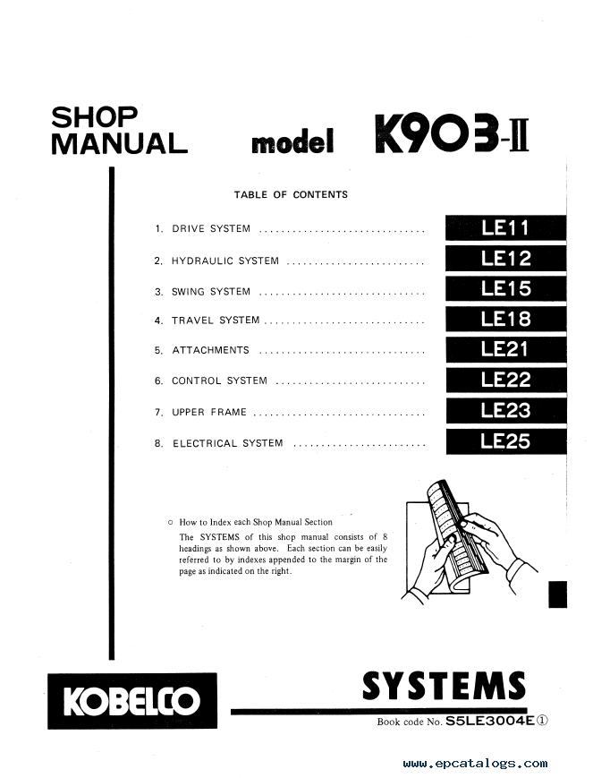 Kobelco K903-II Hydraulic Excavator Download PDF Shop Manual