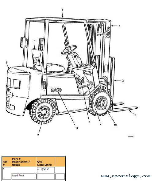YALE Truck B810 GDP/GLP16-20/030-040AF PDF Information