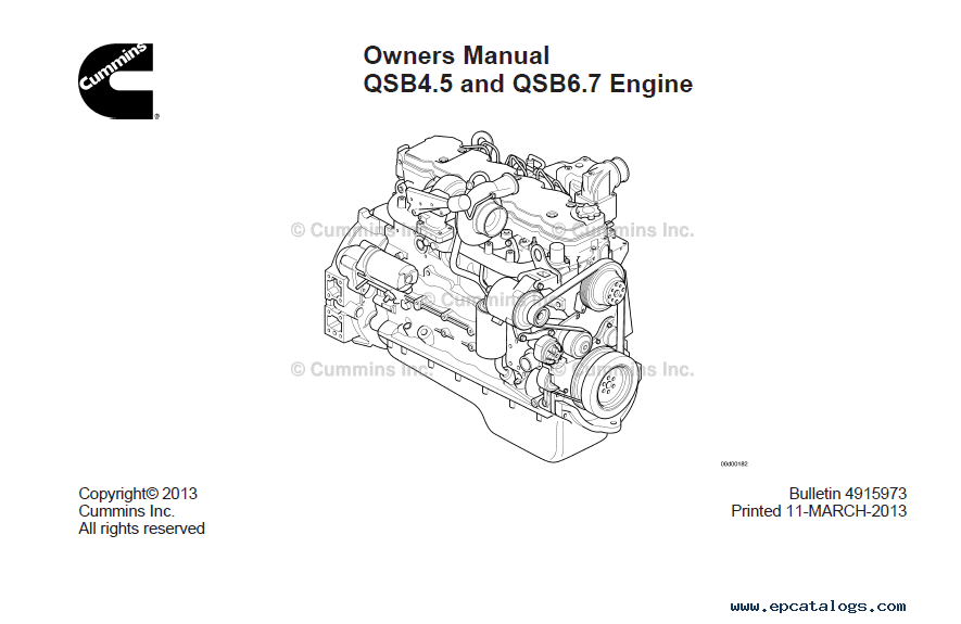 Download Cummins Engines QSB4.5 QSB6.7 Owners Manual