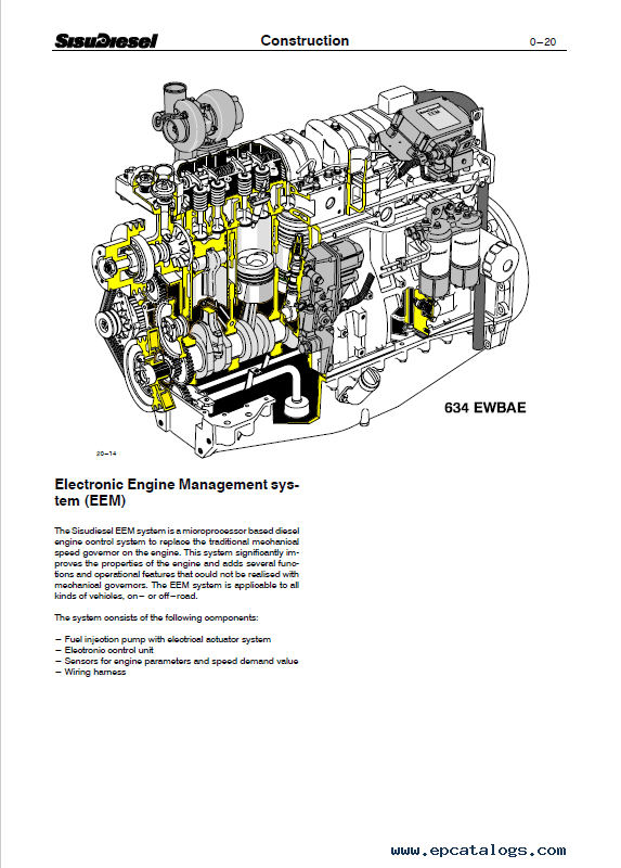 Download JCB Sisu Diesel Engines 320, 420, 620, 634 PDF