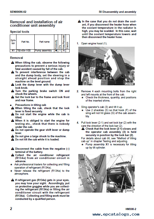 Komatsu Articulated HM300-2 Shop Manual PDF Download