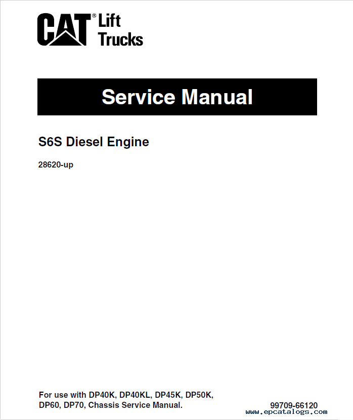 CAT GP40, GPL40; DP40/45/50, DPL40 Service Manuals PDF