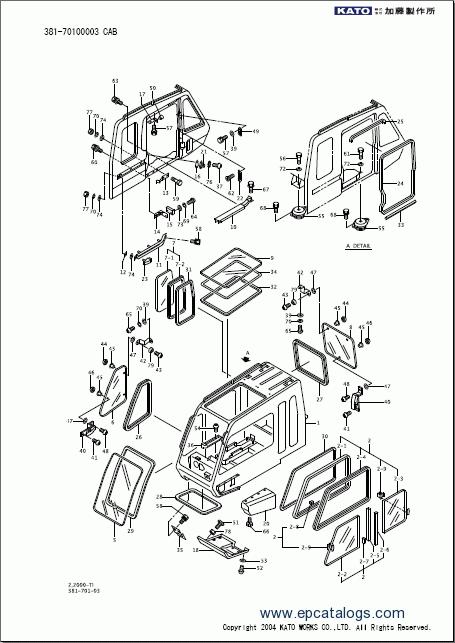 KATO SR-250SP-V Spare Parts Catalog Download PDF