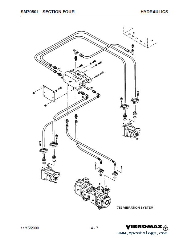JCB Vibromax 752 Tandem Drum Roller Service SM70501 PDF