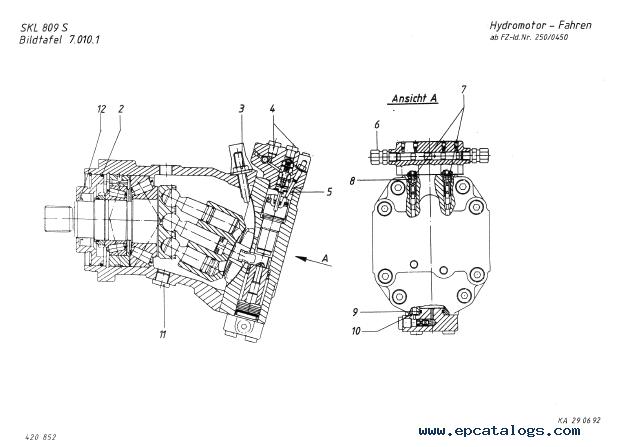 Terex SKL 809 series S Wheel Loader Download PDF Parts Catalog