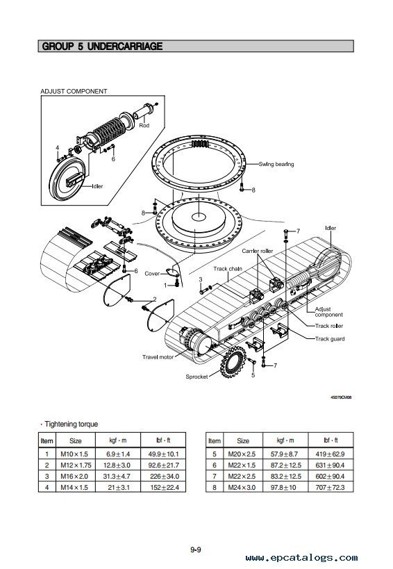 Hyundai R500LC-7 Crawler Excavator Service Manual PDF