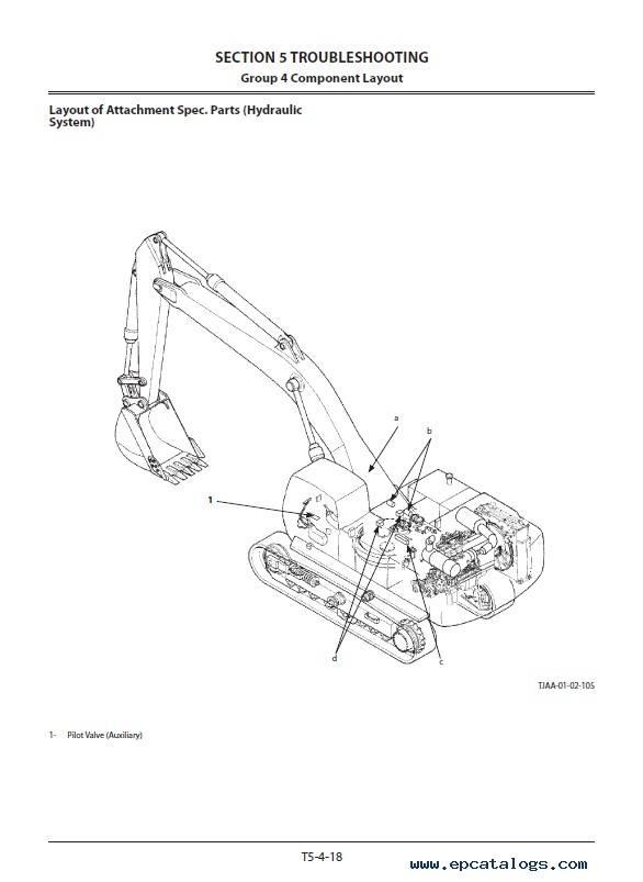 Hitachi Excavator ZX470LC-5G Troubleshooting PDF
