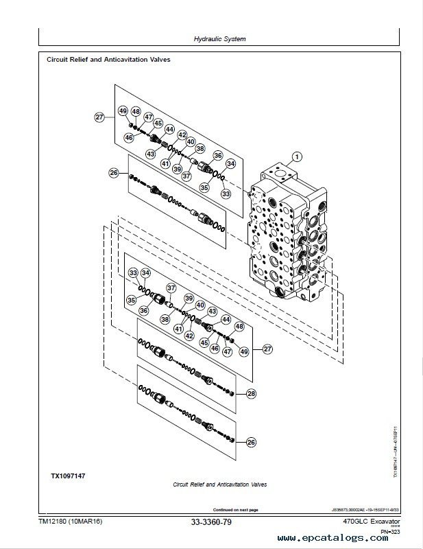 Download JD 470GLC Excavator Repair Technical TM12180