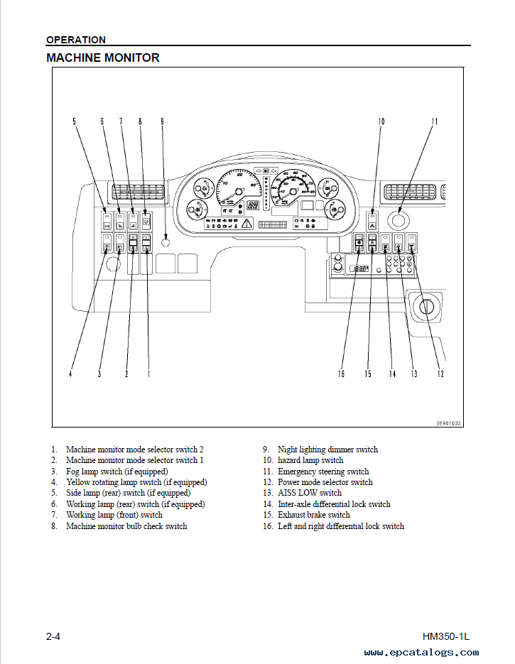 Komatsu HM350-1L Articulated Dump Truck Manual Download