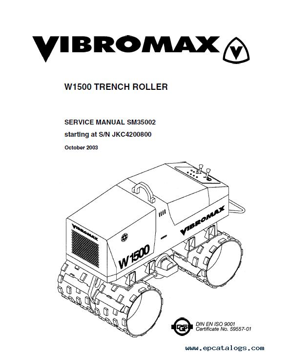 Download JCB Vibromax W1500 Trench Roller Service PDF