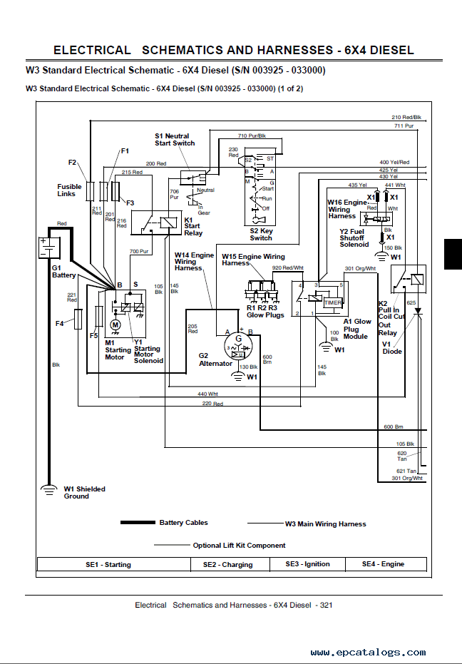 John Deere L130 Safety Switch Wiring Diagrams John Deere Gator Utility Vehicles 4x2 And 4x6 Technical Manual