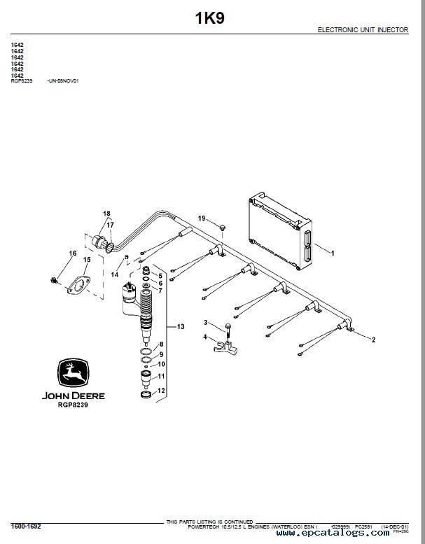 JD PowerTech 10.5L 12.5L oem Engine Parts Catalog PC2581