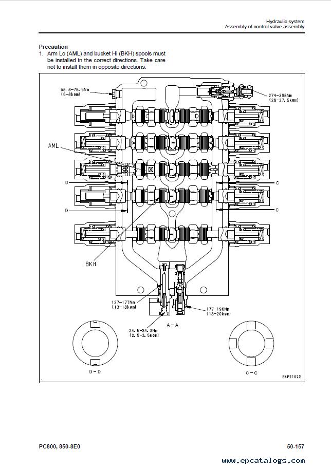 Komatsu Excavator PC800/SE/LC-8EO, PC850/SE-8EO Manual