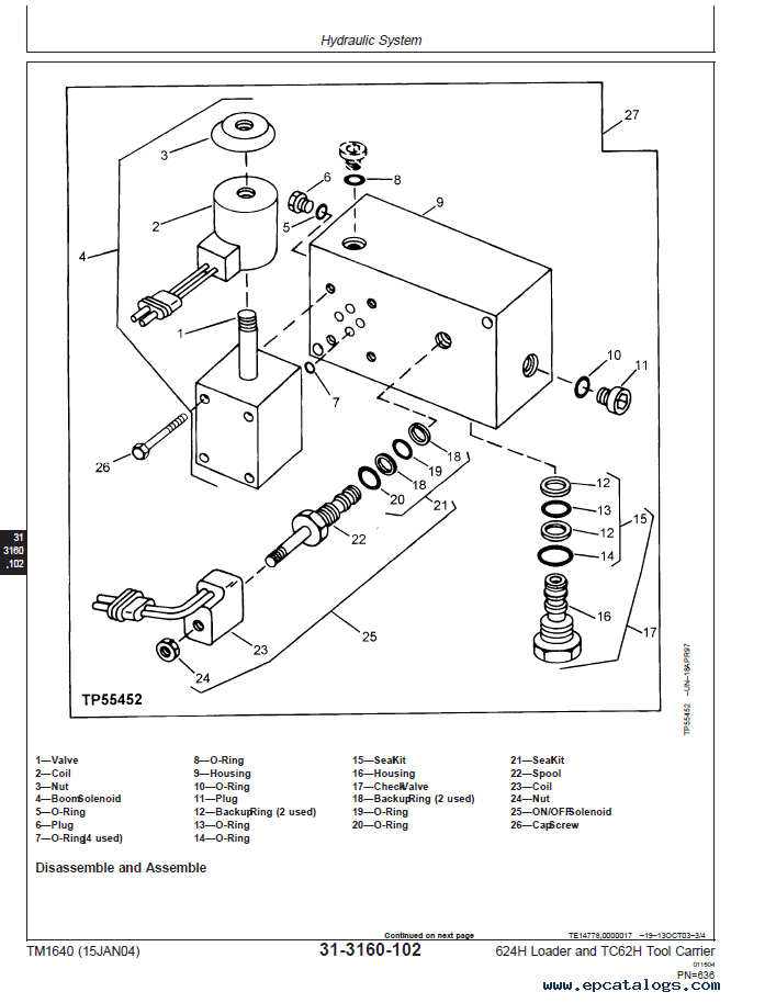 John Deere 624H Loader & TC62H Tool Carrier PDF Manual