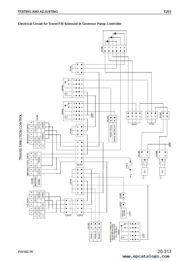 Komatsu Excavator PW160-7K Shop Manual PDF