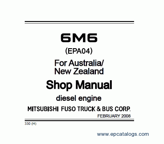 Mitsubishi FUSO 6M6 Repair Manual Download