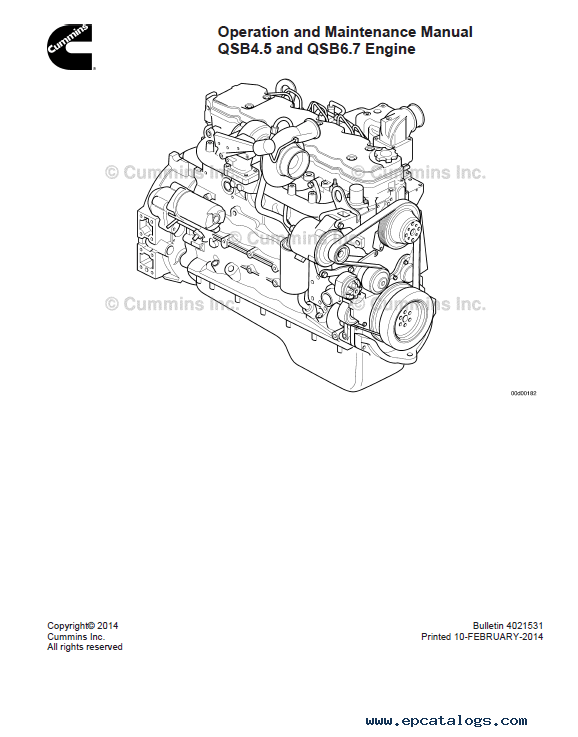 Cummins QSB4.5 QSB6.7 Engine Operation Maintenance PDF