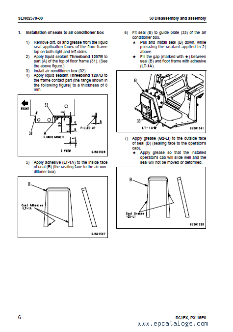 Komatsu Bulldozers Galeo D61EX/D61PX-15 PDF Manuals