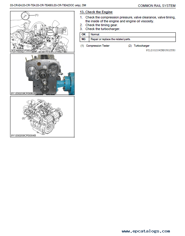 Kubota Common Rail System 03-CR Diagnosis Manual PDF