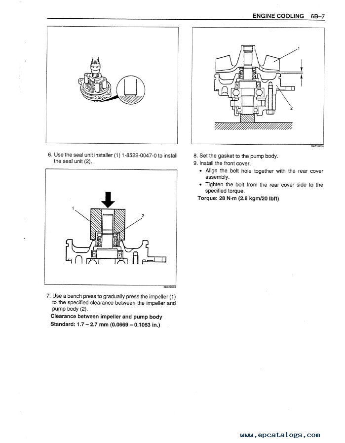 Isuzu Engines 6WG1T for Case Service Manual PDF