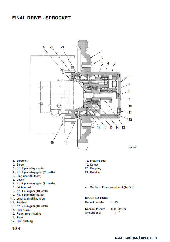 Komatsu Excavator PC95-1 Shop Manual PDF Download