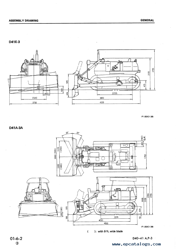 Komatsu Bulldozers D40 and D41 series PDF Set of Shop Manuals