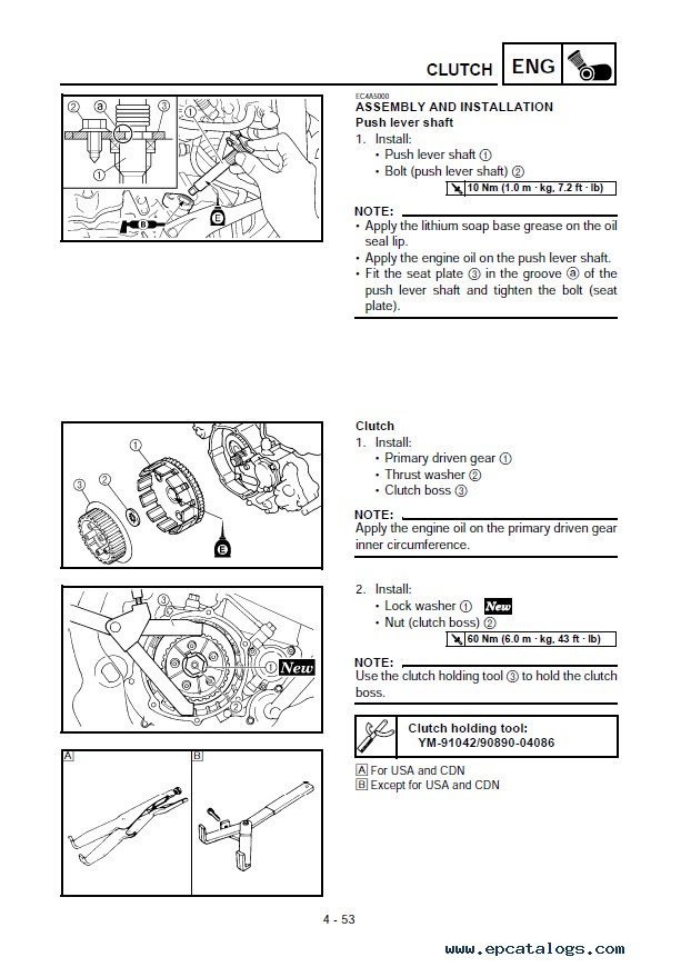 Yamaha YZ250FT 2005 Owner's Service Manual PDF