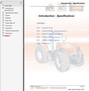 Massey Ferguson MF6400 Service Manual PDF