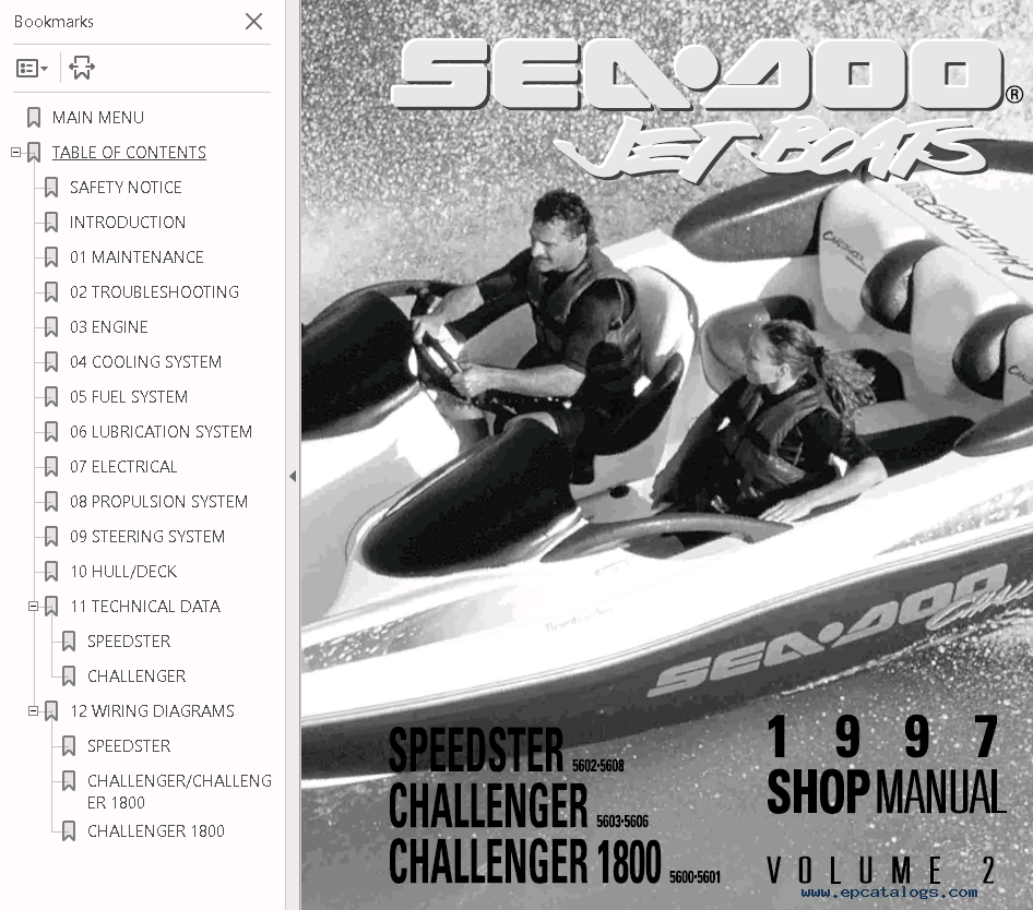 hight resolution of repair manual sea doo jet boat challenger 1800 full repair manual 1997 4