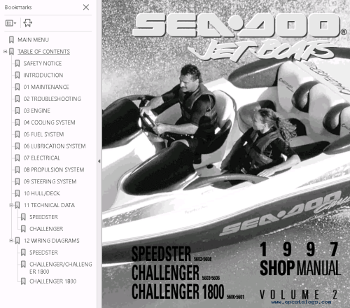 small resolution of repair manual sea doo jet boat challenger 1800 full repair manual 1997 4