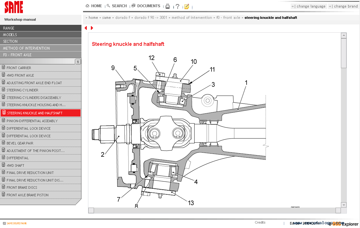 Same SDF e-Parts 2014 Spare Parts Catalog Download