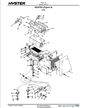 Hyster Challenger H165190210230250280XL Parts Manual PDF