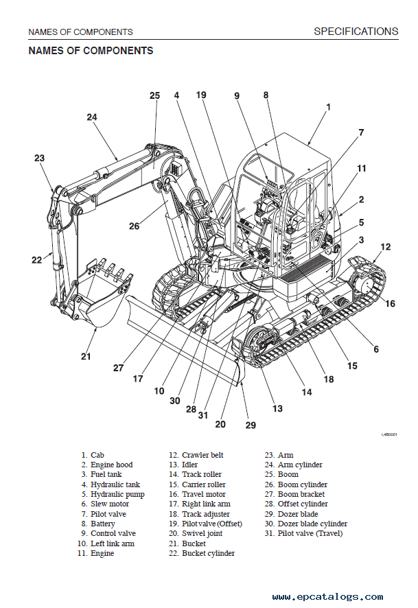 Takeuchi TB180FR Excavator Workshop Manual PDF Download