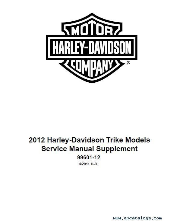 Download Harley Davidson Touring Models 2012 PDF Manuals