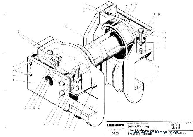 Liebherr LR 611-641 Crawler Loaders Service Manual PDF