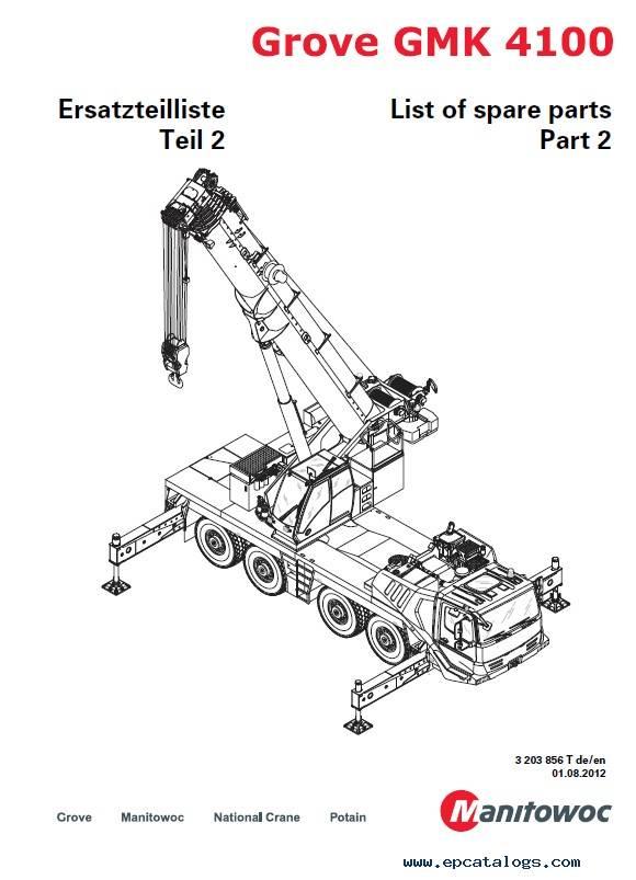 Download Grove Truck Crane GMK 4100 Spare Parts List PDF