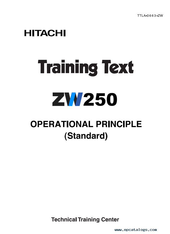 Hitachi ZW220 ZW250 Wheel Loader PDF Manuals
