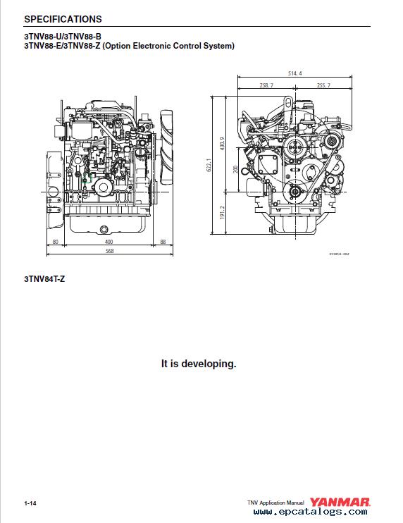 Download Yanmar 3TNV 4TNV Electronic Control Manual PDF