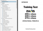 Hitachi Zaxis 200-3, 225US-3, 225USR-3, 240-3, 270-3 PDF