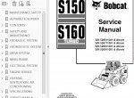 Bobcat S150 S160 Service Manual PDF Download