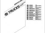 Nissan UD Trucks 1300, 1400, 1800, 2000, 3300 PDF Service