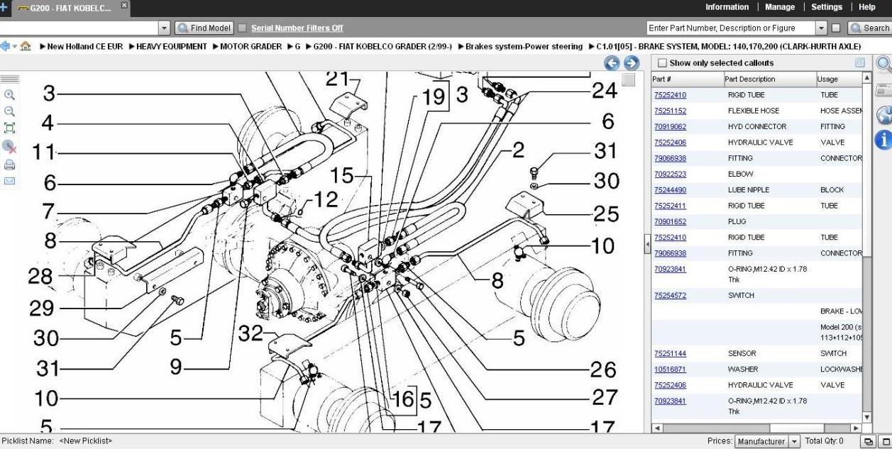 new holland parts schematics