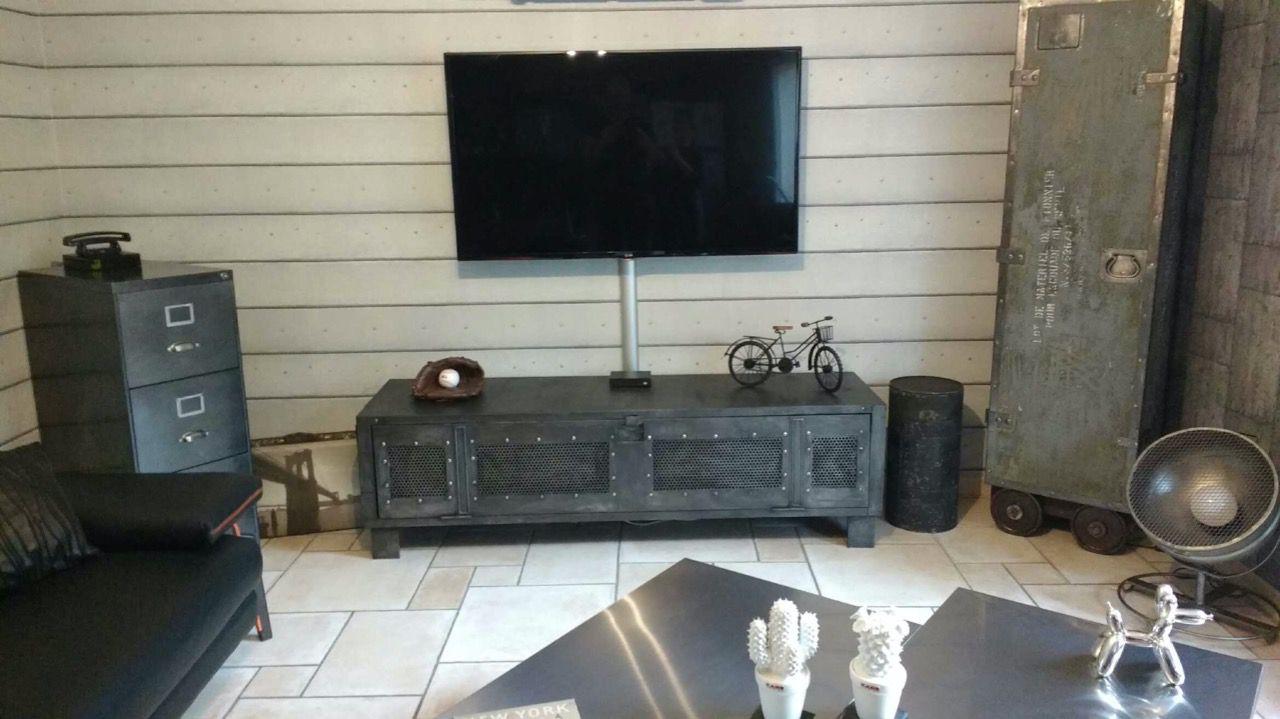 meuble 5 vestiaire style industriel meuble television epdesign fr