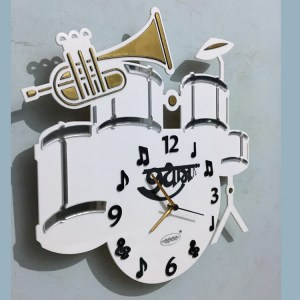 Wall clock music theme