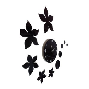 Wall clock flower petels theme