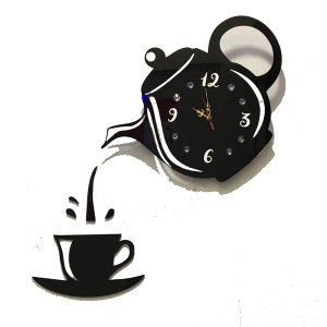 Tea and coffee theme wall clock online