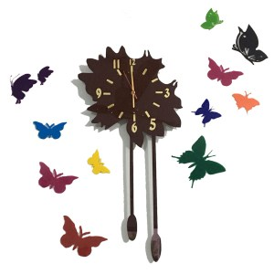 Butterfly theme wall clock online